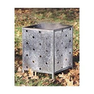Extra Large Flat Packed Square Galvanised Steel Garden Incinerator