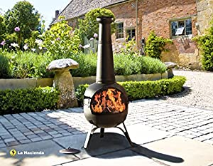 Extra Large Steel 134cm Chiminea Rancho Patio Heater With Bbq Grill