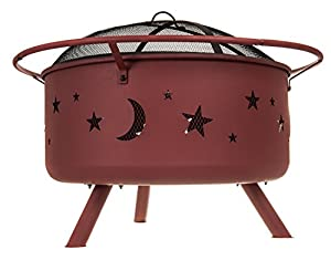 Fiay Fire Pitbrazier Solid Fuel Bbq Moon Stars Cut-out For Gardenverandacamping 74cm X 59cm With Waterproof Cover from Fineway.