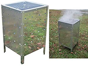 Fiay Large Square Garden Fire Bin Incinerator Galvanised 90l Burning Rubbish Trash from FiNeWaY