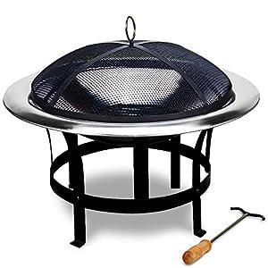Fire Bowl Grill Garden Heating Fire Pit Brazier Fire Log Basket Patio Heater Bbq Log Burner