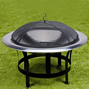 Fire Bowl Grill Garden Heating Fire Pit Brazier Fire Log Basket Patio Heater Bbq Log Burner