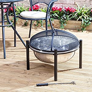 Fire Mountain Havana Stainless Steel Garden Fire Pit And Cover from Fire Mountain