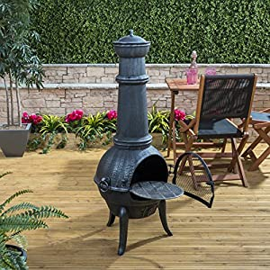 Fire Mountain Large Cast Iron Chiminea from Fire Mountain