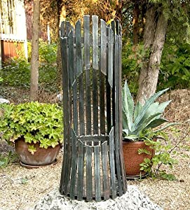 Fire Pit Albero Fire Basket 80002 Fire Bowl 60cm Iron Fireplace Column