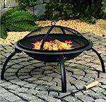 Fire Pit Black Log Heater...