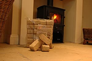 Fire Pit Chimenea Fuel Pack Kit Contains 24 High Heat Wood Briquettes And 28 Firelighters from Recycling Resources ltd