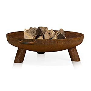 Fire Pit Daytona 80 Steel Rusty Style Fire Bowl 80 Cm Diameter from ambience living