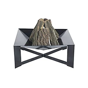 Fire Pit Lincoln Steel 70x70x30 Cm Fire Bowl Fire Place by DECORAS