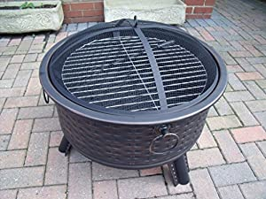 Fire Pit Rattan Furniture Style Decking Heater Metal Firepit Brazier Bbq Table B from Ambience-Outdoors