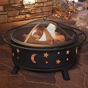 Fire Pit Round Patio Heater Bbq Decking Firepit Garden Brazier Stars Dd by Ambience-Outdoors
