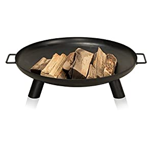 Fire Pit Vancouver 80 Steel 80x80x24 Cm Fire Bowl Black by ambience living