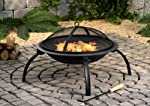 Fire Pit With Mesh Cover And Cookin...