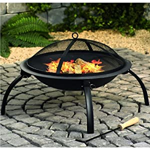 Fire Pit With Mesh Cover And Cooking Grill Bbq from Worldstores