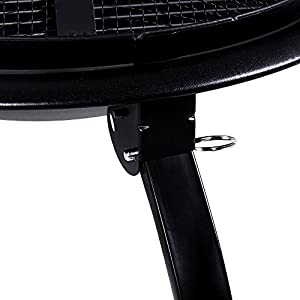 Fire Vida Steel Foldable Fire Pit Garden Patio Heater Bbq Black Small from Lassic