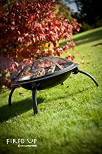 Firebowl Bbq Barbeque With Folding Legs And Carry Bag For Portability by La Hacienda
