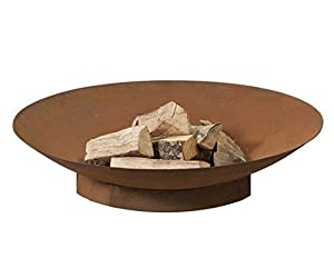 Firebowl - Firepit 90 Rusty Look - Steel Fireplace With Brown Heat Resistant Finish - Free Shipping from 2L Home and Garden