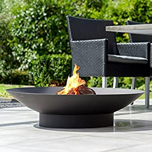 Firebowl - Firepit 90 Steel Fireplace With Black Heat Resistant Finish from 2L Home and Garden
