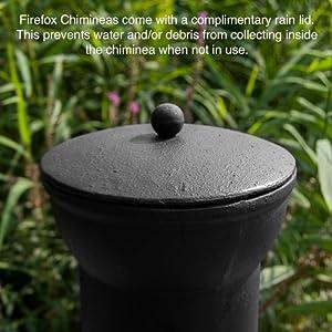Firefox Chimineas - Athena Small 100 Cast Iron Chiminea - Black - 85cm 33 X 45cm 18 H X Dia by Firefox Chimineas