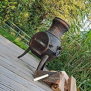 Firefox Chimineas - Pulsar 100 Cast Iron Chiminea - Bronze - 75cm 30 X 40cm 16 H X Dia from Firefox Chimineas