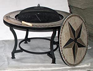 Firepit Bbq And Coffee Table 3 In 1 3076cm Diameterwith Cover And Accessories from Beaudelaire