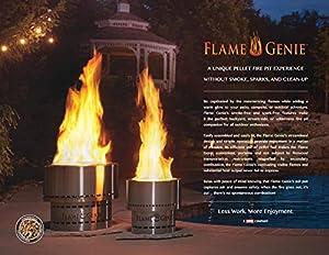 Flame Genie Wood Pellet Fire Pit by Flame Genie