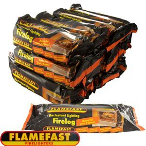 Flamefast Instant-light Smokeless Fire Log Burns For 2-3 Hours Case 12 by Flamefast