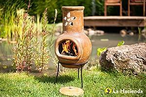 Flower Small Clay Chimenea by CMD Ltd