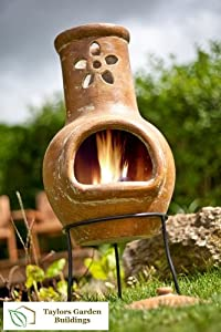 Flower Small Clay Chimenea by CMD Ltd