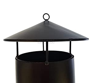 Foxhunter Garden Outdoor Steel Chimenea Chimnea Patio Heater Round Fire Pit Bbq 135cm Black Sc02  from KMS