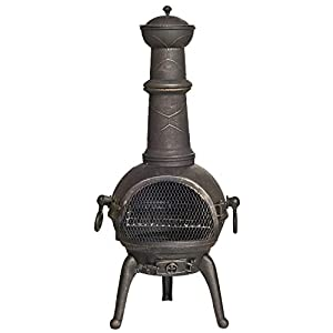 Free Cover La Hacienda 112cm 100 Cast Iron Chiminea Bbq Grill