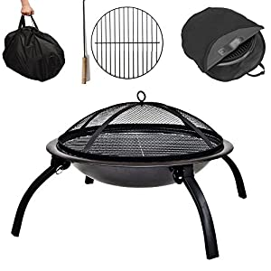 Funkybuys Fire Pit Folding Garden Bbq Bowl Outdoor Camping Log Charcoal Patio Heater by FunkyBuys
