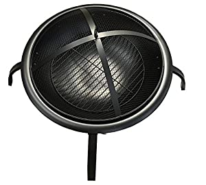 Galleon Fireplaces Round 57cm Folding Bbq Outdoor Firepit Foldable Garden Patio Fire Pit Heater Including Carry Bag And Pocker from GalleonFireplaces