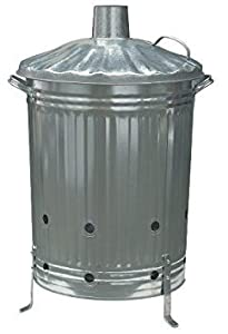 Galvanised Euro Incinerator Bin from Parasene