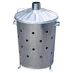 Galvanised Garden Incinerator Fire Bin Extra Holes Top Quality Bin from Toolstopuk