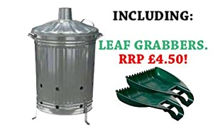 Galvanised Garden Incinerator Fire Bin Good Quality With Leaf Grabbers from PARASENE