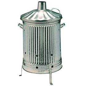 Galvanised Tapered Euro Incinerator With Lid