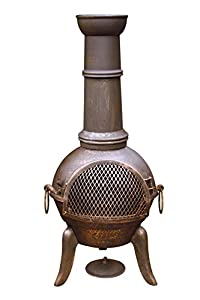 Gardeco 112cm Granada Cast Iron Chimenea from Gardeco