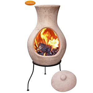 Gardeco 4 Elements Small Clay Chiminea Air No Lid by Gardeco