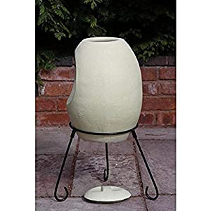 Gardeco Ellipse Elliptical Clay Chimney Beige 50 X 50 X 85 Cm by Gardeco