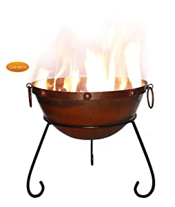 Gardeco Rustic Steel Fire Bowl Rusticfb40 by GreatGardensOnline