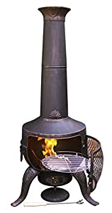 Gardeco Steelchi-7-br Large Tia Chimenea - Bronze from China