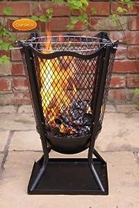 Garden Brazier Incinerator Bbq Grill Curved Design 575cm X 40cm from UK-Gardens