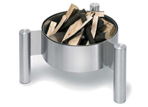Garden Fire Basket - Stainless Steel by Blomus