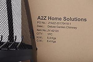 Garden Log Burner Firepit Chimera Outdoor Heating Black 120cm by A 2 Z Home Solution