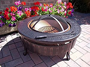 modern patio fire pit. Garden Mile Firepit Modern Patio Fire Pit Heater Log Burner Stove Round Brazier