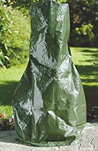 Garden Mile Large Heavy Duty Weatherproof Green Chimnea Protective Rain Covergarden Wood Burner Fire Pit Cover Waterproof Uv Protected Chimenea Coverlarge Size by Garden mile®