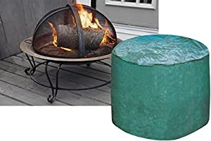 Garden Mile Large Heavy Duty Weatherproof Green Round Firepit Protective Rain Covergarden Wood Burner Fire Pit Cover Waterproof Uv Protected Log Burner Coverlarge Size from Garden mile®