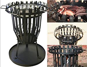 Garden Patio Fire Basket Pit Brazier by Wolf