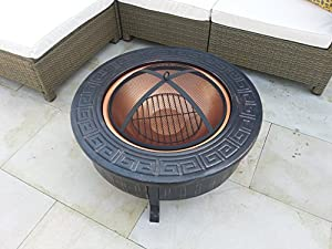 Garden Patio Fire Pit Decking Heater Metal Firepit Brazier Barbecue Table by Gladiator firepits